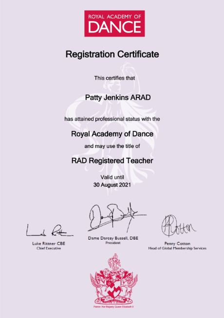 RAD Teaching Certificate